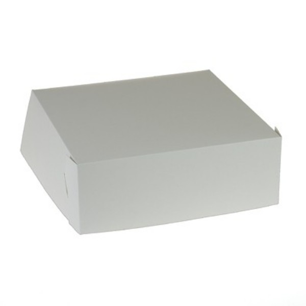 White Corrugated Cardboard Easy Fold Cake boxes