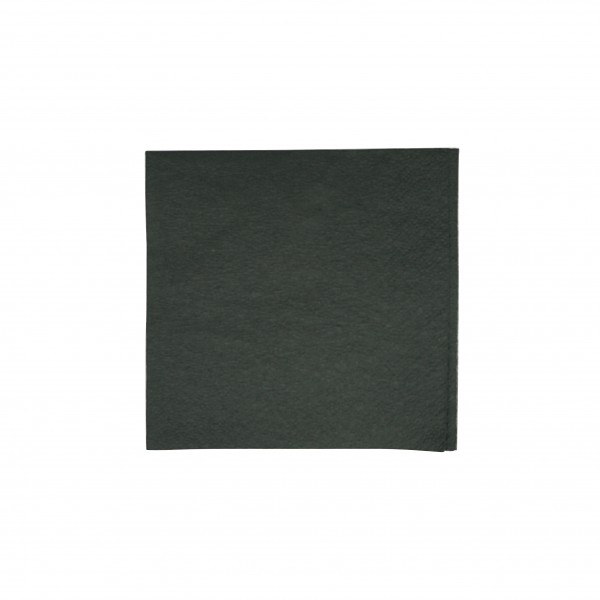 Black 2 Ply Quilted Cocktail Napkins