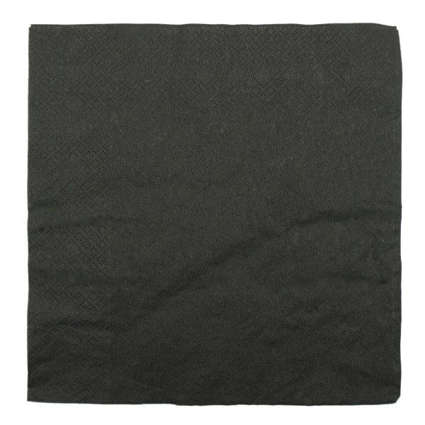 Black 2 Ply Paper Dinner Napkins