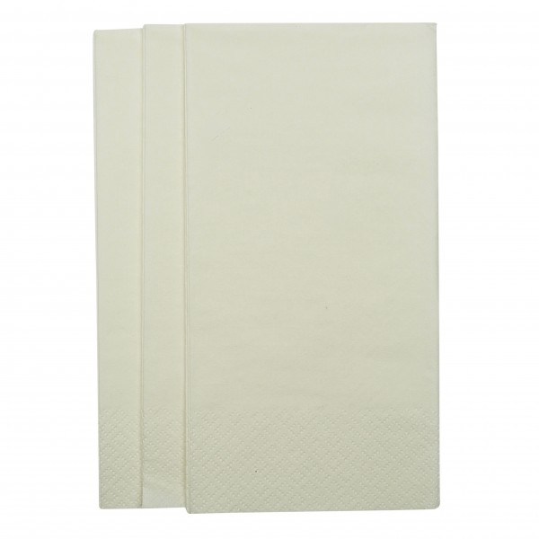 White 2 Ply Paper GT Fold Dinner Napkins
