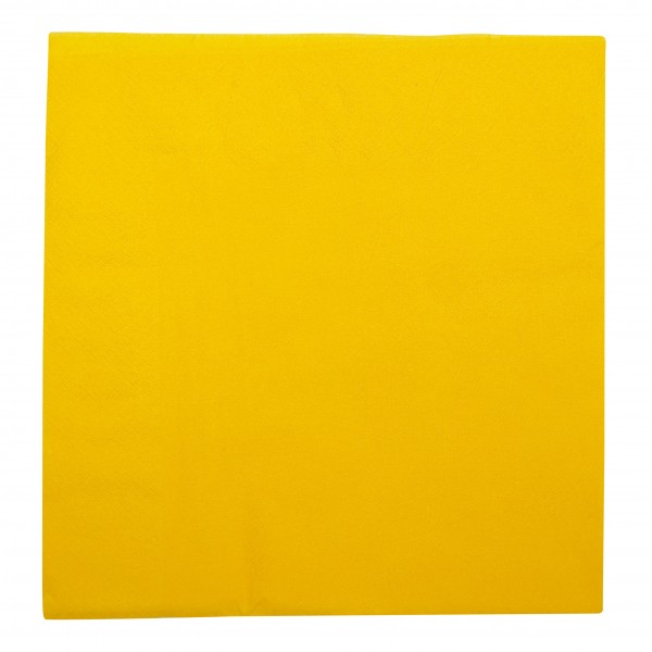 Yellow 2 Ply Paper Dinner Napkins