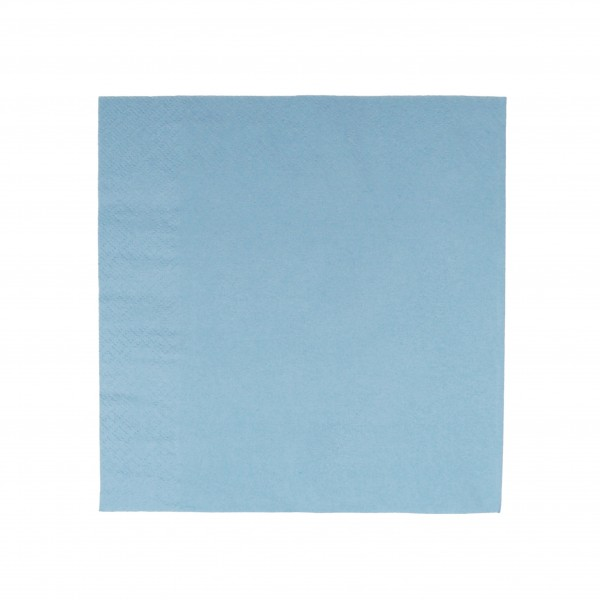 Light Blue 1 Ply Paper Luncheon Napkins