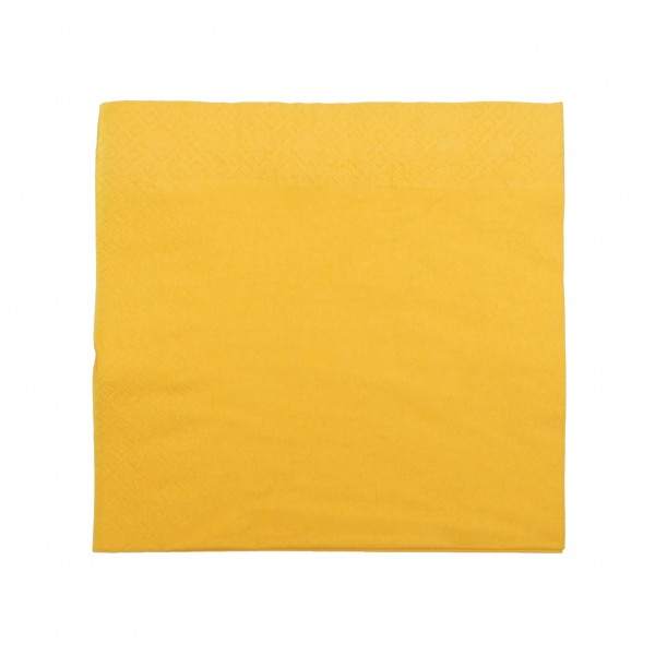 Yellow 2 Ply Paper Luncheon Napkins