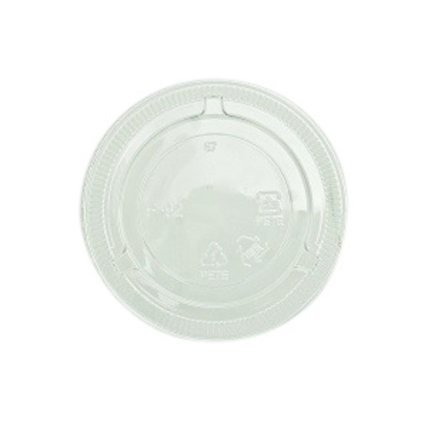 Clear Recyclable PET Plastic No-Slot Flat Lids