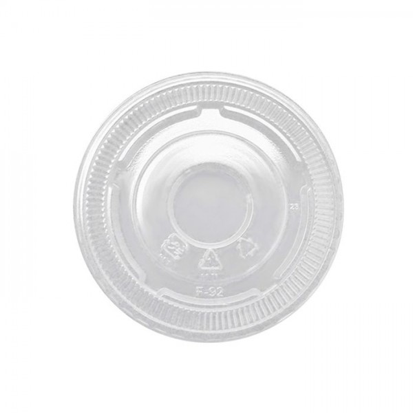 Clear PET Plastic No-Slot Lid for: SD5, SD8 , COLD16