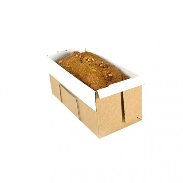 White Non-stick Cardboard Long Loaf Trays
