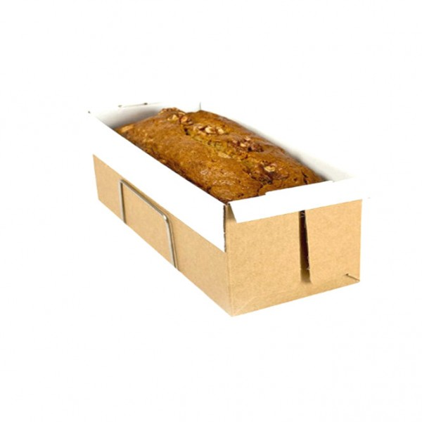 white laminated inner brown outer cardboard loaf trays
