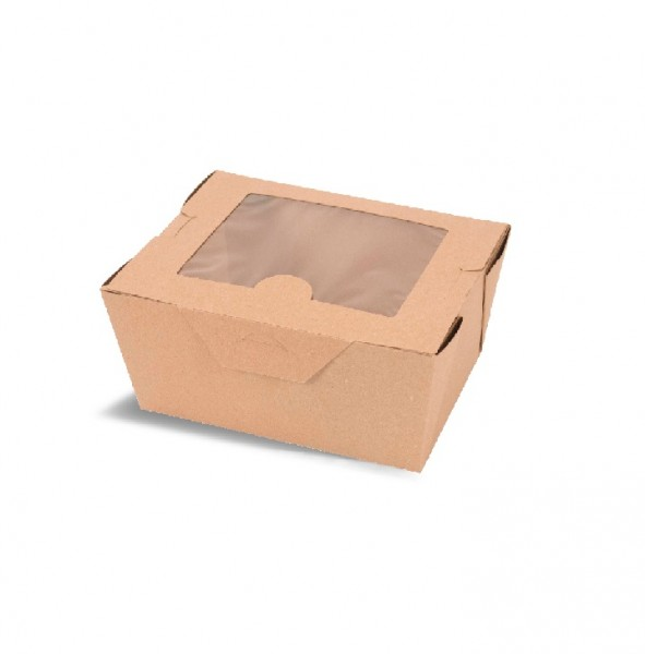 Brown Cardboard Window Food Boxes