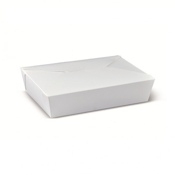 White Cardboard White Lunch box 36oz