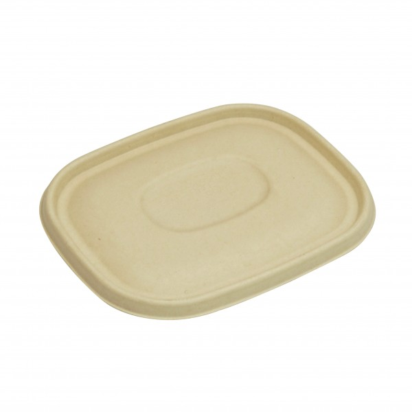 Kraft Compostable Fibre Board Lids To Suit BIOBOXLGE and BIOBOXMED
