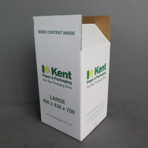 White Double Corrugated Cardboard Moving Boxes