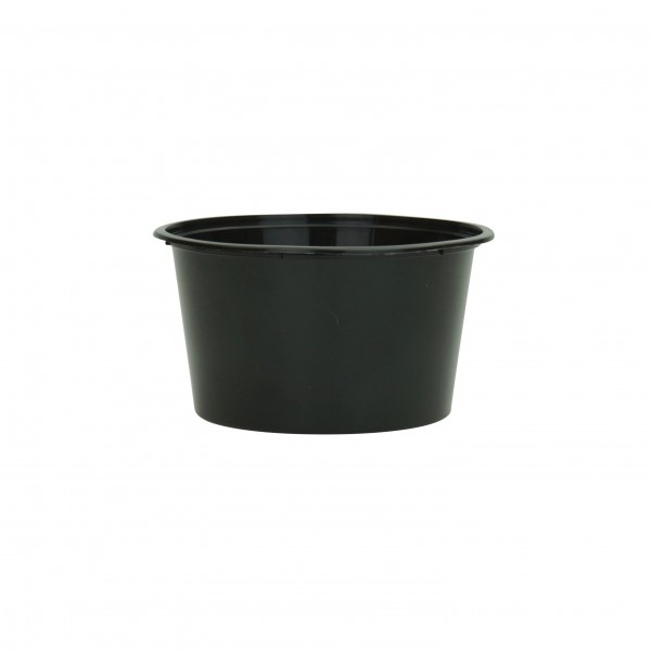 Black Plastic Microwave Containers