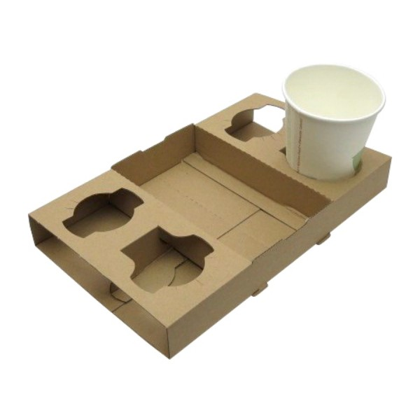 Brown Corrugated Food and Drink Trays