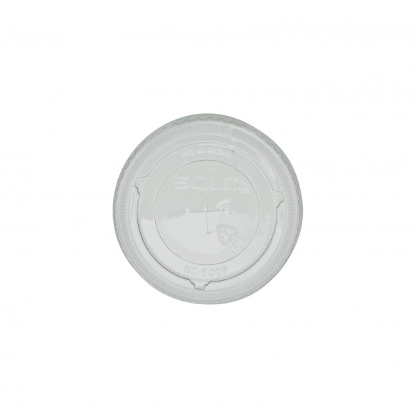 Clear PET Plastic Strawslot lid for: CDL10C