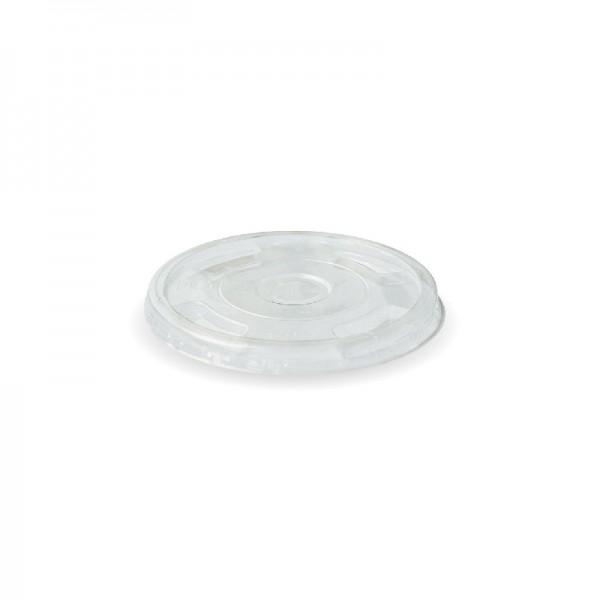 Clear PLA Plastic Compostable Flat Lids