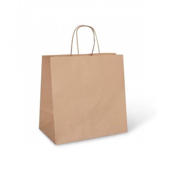 Brown Paper Takeaway Carry Bags