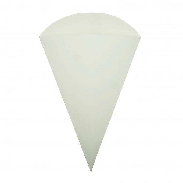 White Card Food Cones