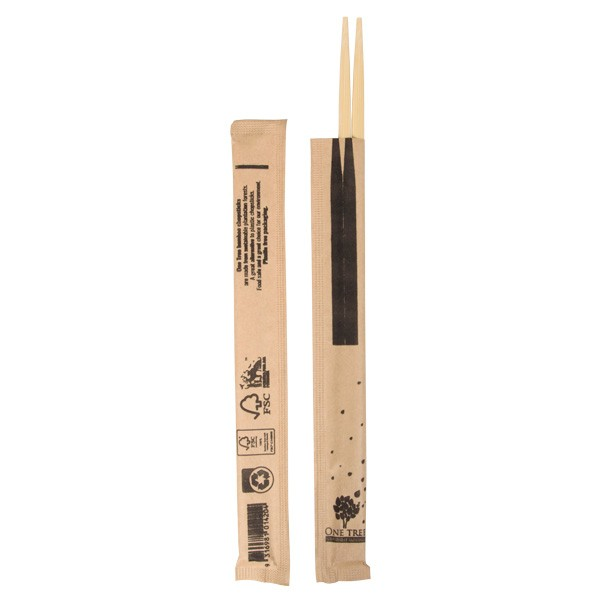 Brown Wooden Wrapped Chopsticks