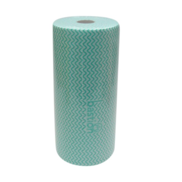 Green Disposable Wipe Rolls
