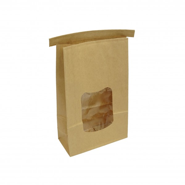 Brown Paper Tin Tie Coffee & Cookie Bags