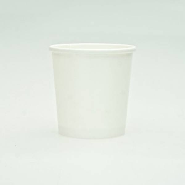 White Paper Ice Cream Or Soup Tubs