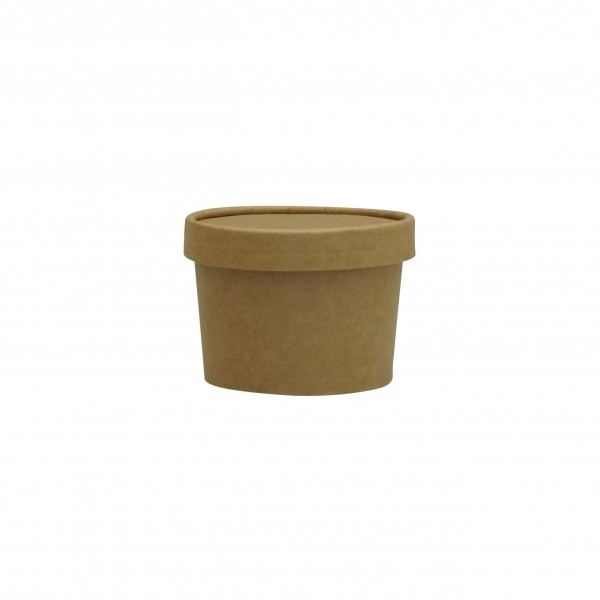 Kraft Paper Ice Cream & Soup Cups with matching Lids