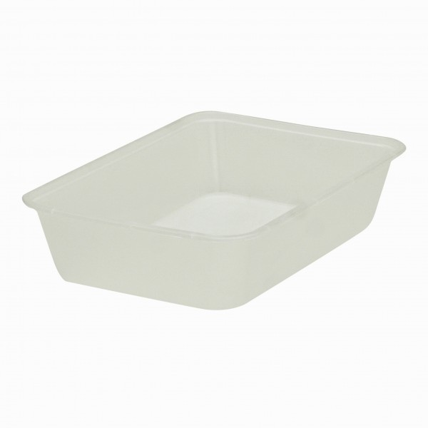 Opaque Freezer Grade Plastic Oblong Containers