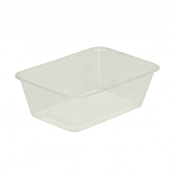 Translucent Plastic Oblong Microwave Containers