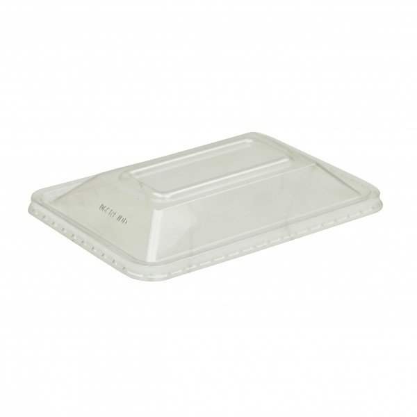 Clear Plastic Non-Microwavable Rectangular Dome Lid