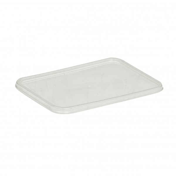 Opaque PP Plastic Lid for: CR Freezer Grade Plastic oblong Containers