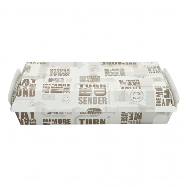 Newspaper Print Corrugated Cardboard Dinner Boxes