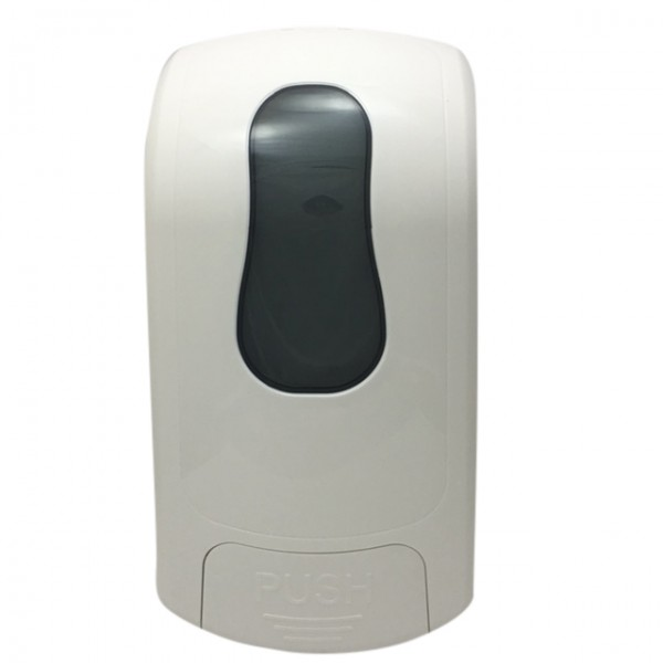 White Plastic Refillable Soap Dispensers