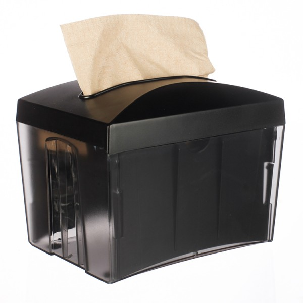 Black/Clear Plastic Napkin Dispenser