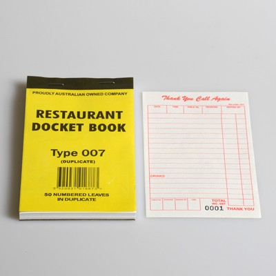 Docket Books & Cash Register Rolls