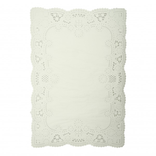 White Paper Lace Rectangular Doilies