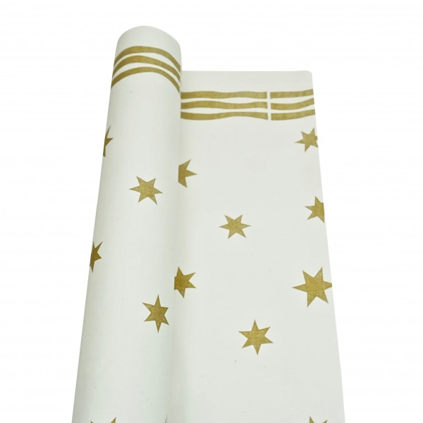 Gold Stars Paper Tablecover Rolls
