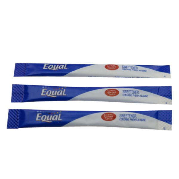 Blue and White Equal sweetner Sachet