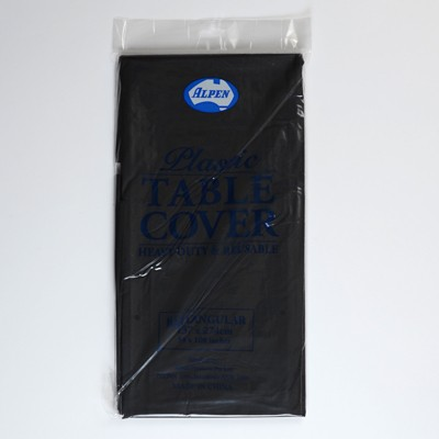 Black Plastic Tablecovers