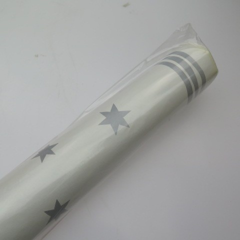 Silver Stars Paper Tablecover Rolls