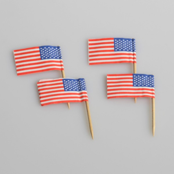 American Flag Wood and Paper Toothpicks