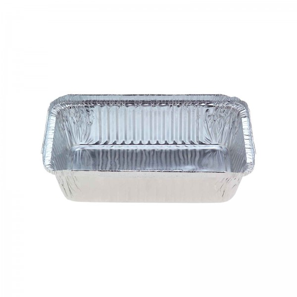 Silver Aluminium Foil Oblong Takeaway Trays