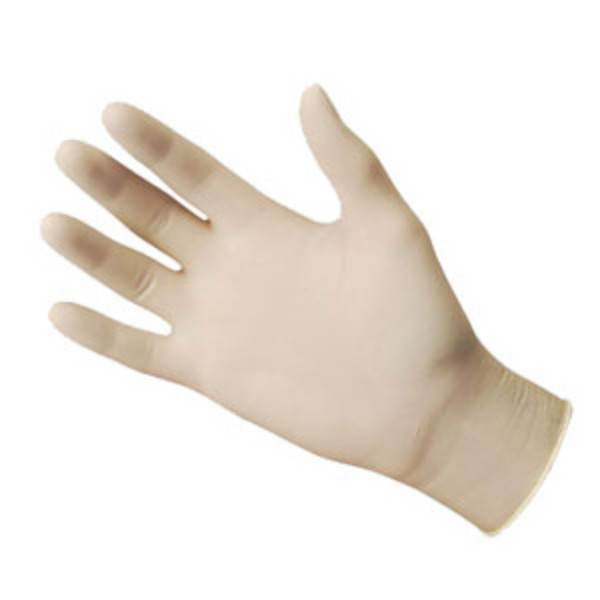 White Latex Small powder free gloves