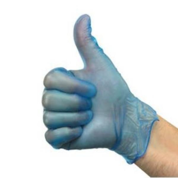 Blue Vinyl Powder Free Gloves