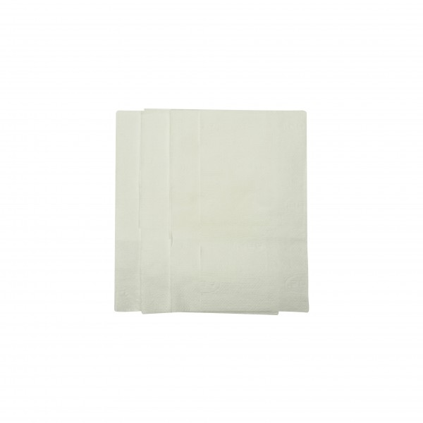 White 1 ply Short Fold Dispenser Napkins
