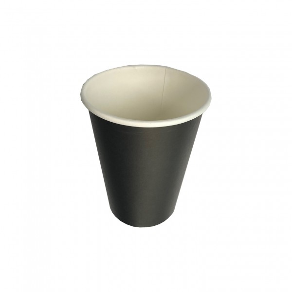 Black Paper Single Wall Coffee Cups