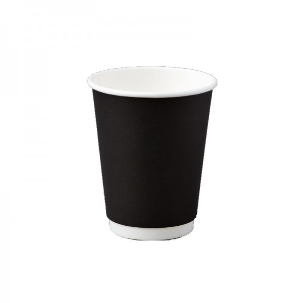 Black Double Wall Paper Coffee Cups