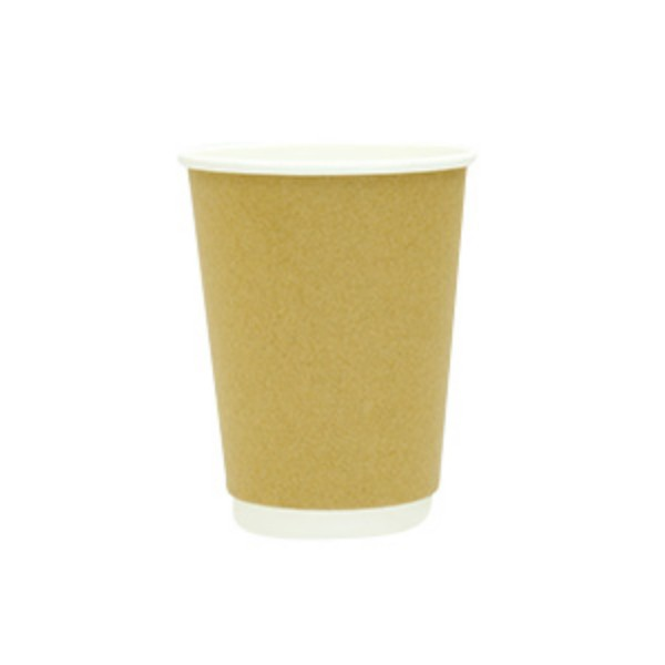 Natural Kraft Double Wall Paper Coffee Cups
