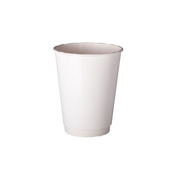 White Double Wall Paper Coffee Cups