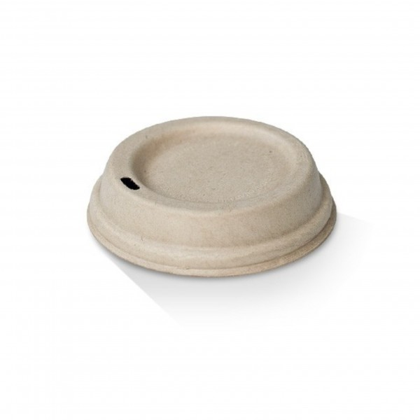 Kraft Paper Domed Lid for: 12oz & 16oz Coffee Cups