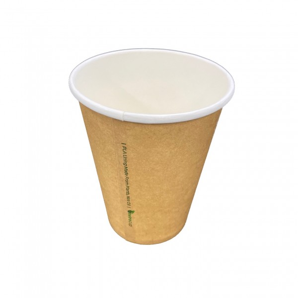 Kraft Compostable PLA Natural Coffee Cups